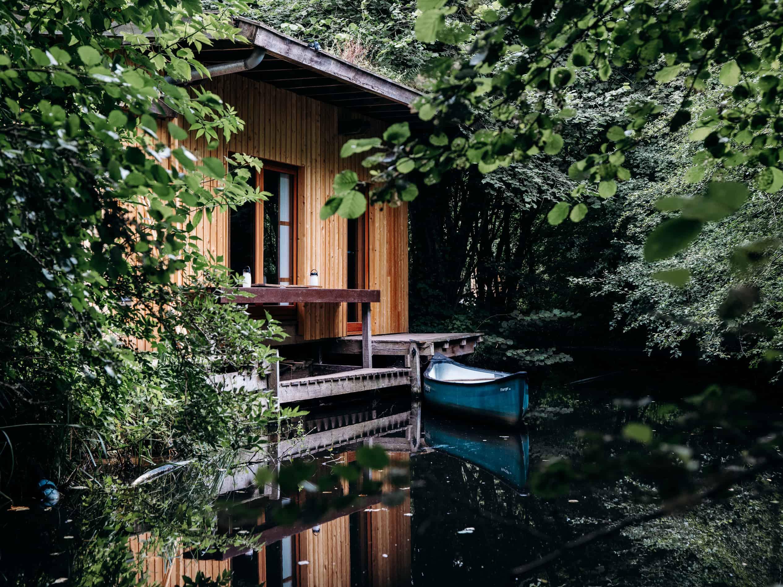 écolodge bois Le Bruit de l'Eau japon baie de somme