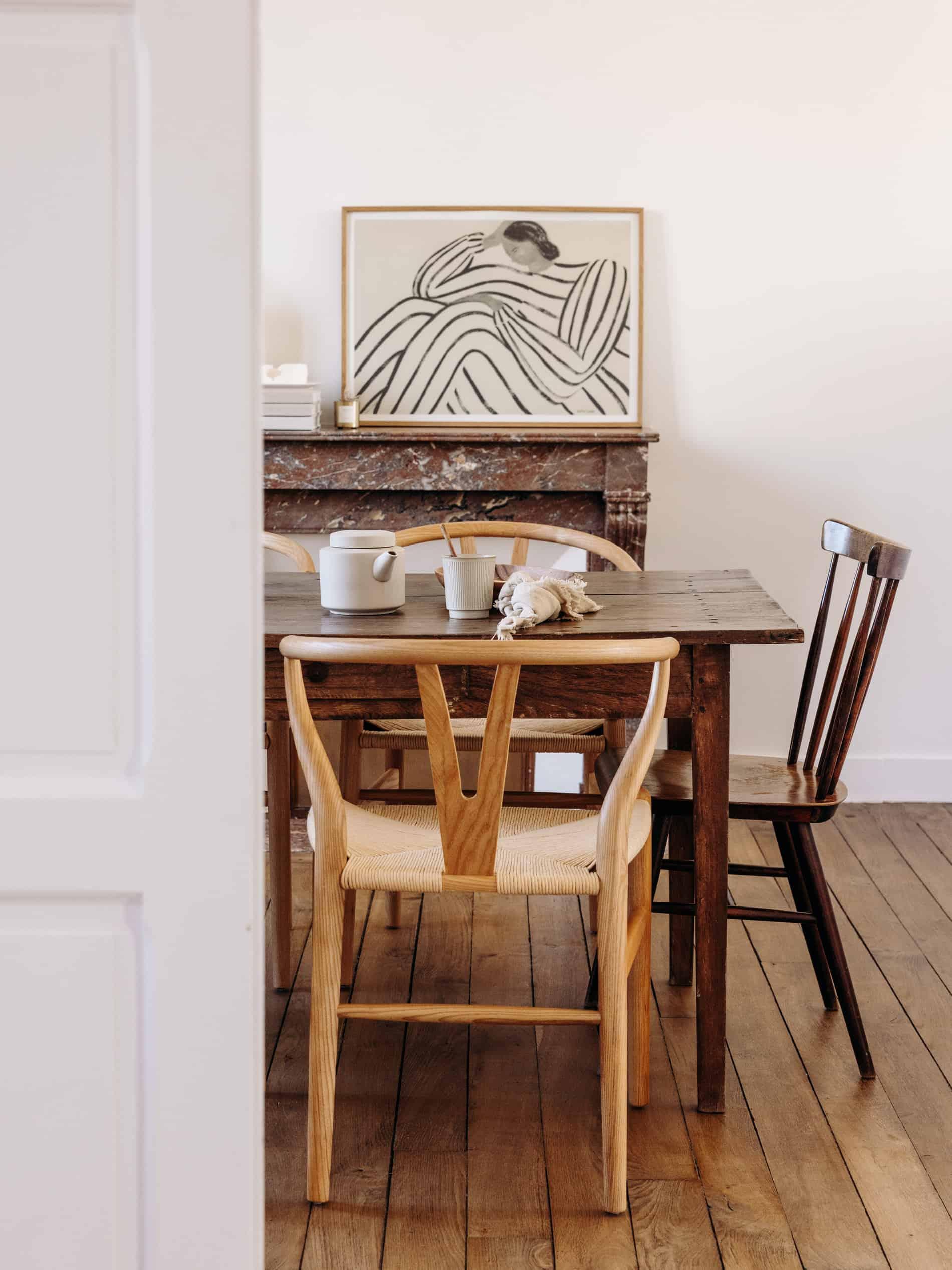 table vintage salle à manger Sélection M visite déco